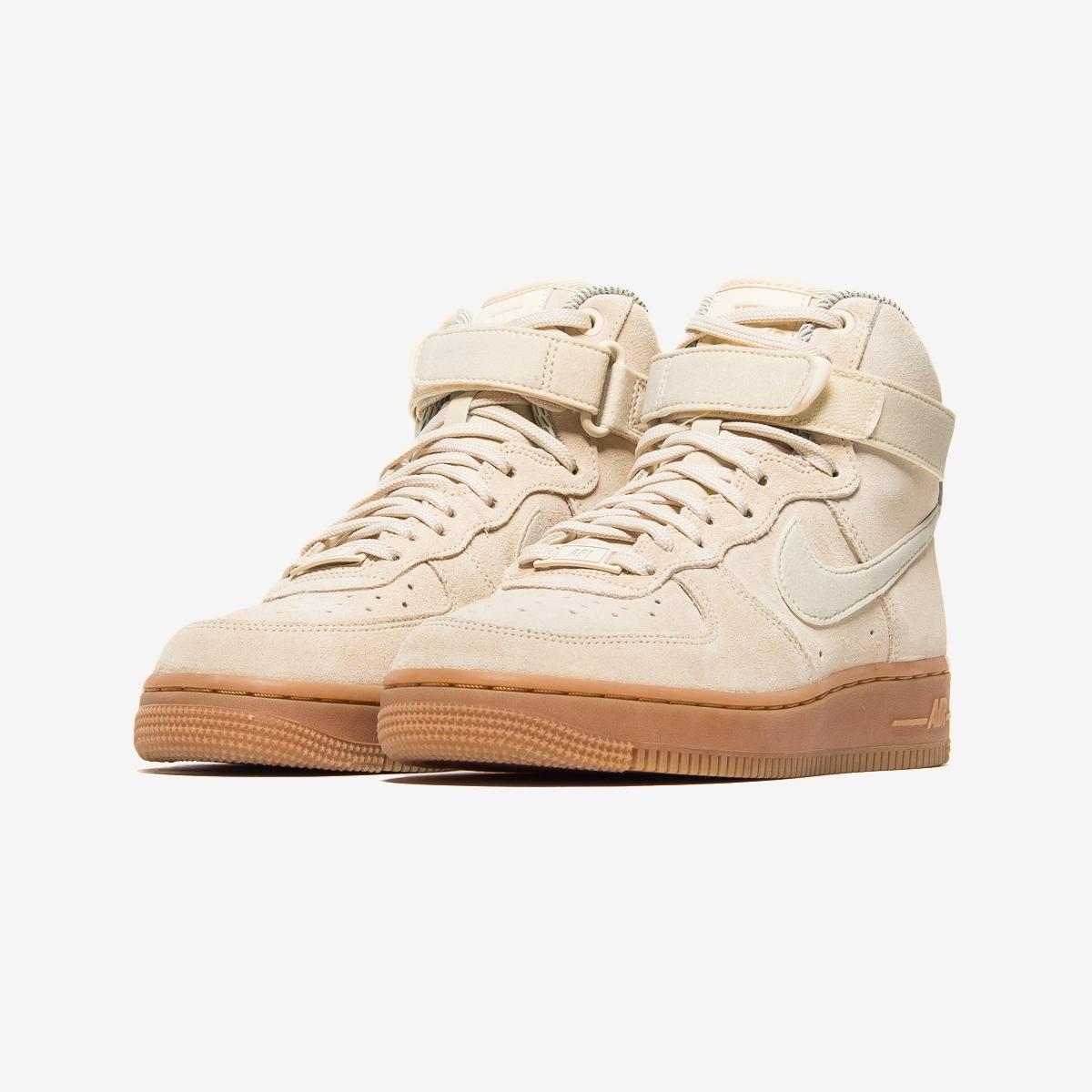 Nike Dames Air Force 1 High Suede Zwart Gum 860544 004