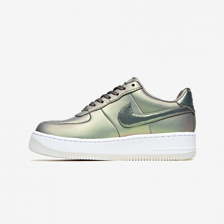 Nike Wmns Air Force 1 Upstep PRM LX (Dark Stucco Dark Stucco White)